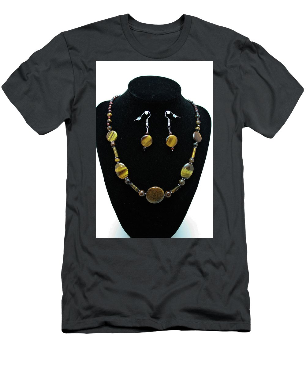 Jewelry Men's T-Shirt (Athletic Fit) featuring the jewelry 3510 Tiger Eye Set by Teresa Mucha
