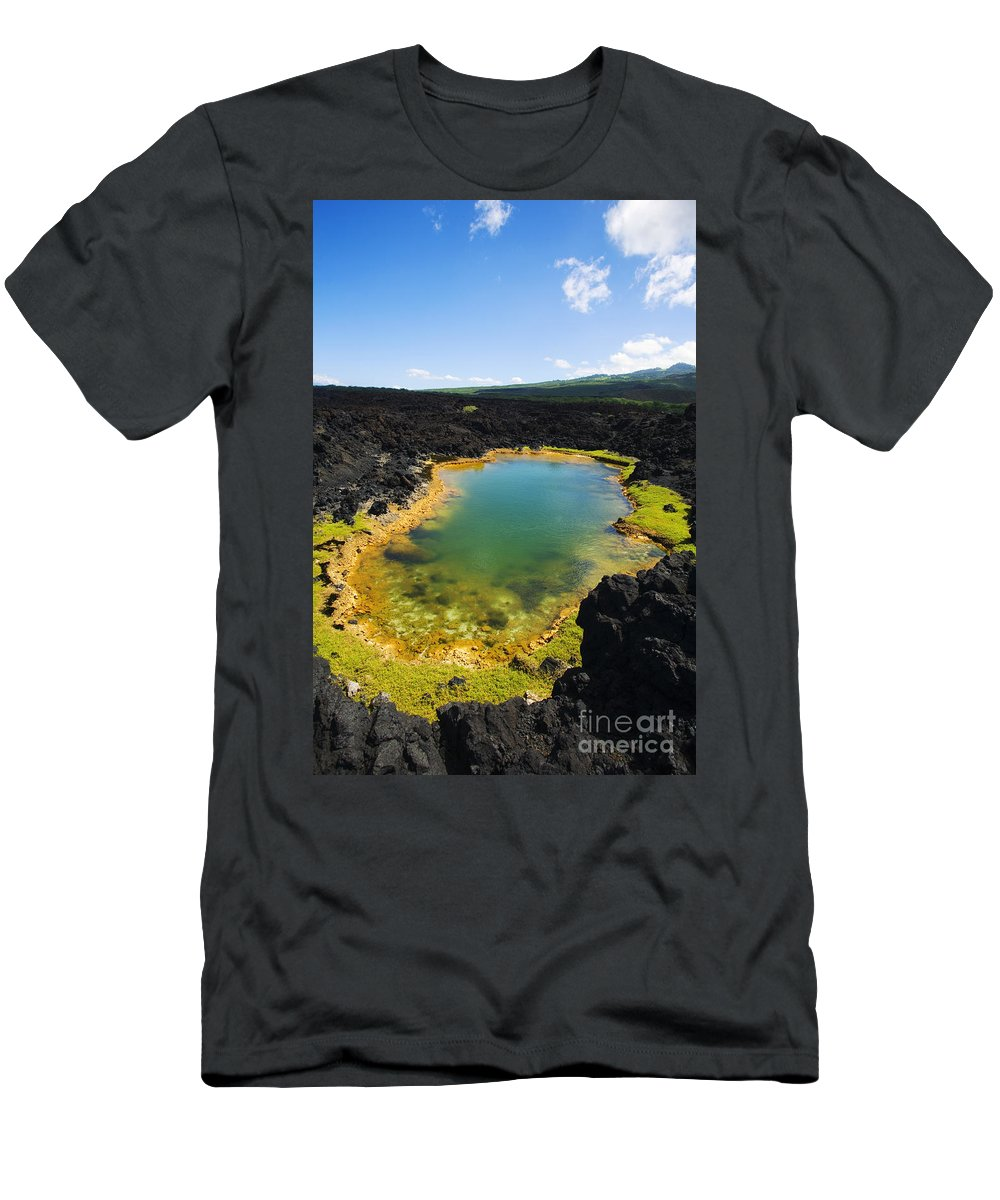 Ahihi Kinau Men's T-Shirt (Athletic Fit) featuring the photograph Ahihi Kinau Natural Reserve by Ron Dahlquist - Printscapes