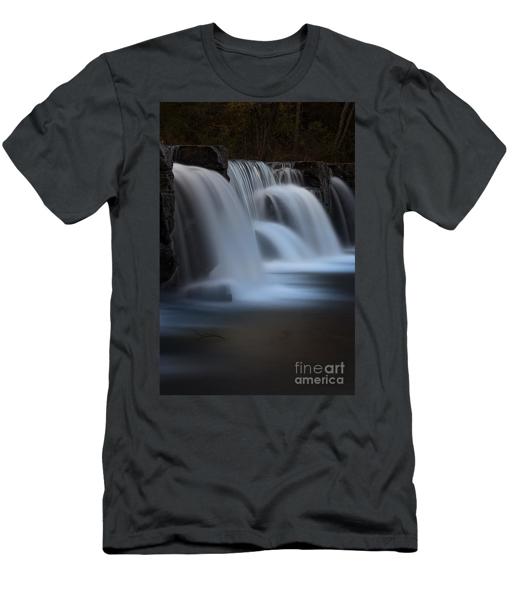 Dam Men's T-Shirt (Athletic Fit) featuring the photograph Natural Dam by Larry McMahon