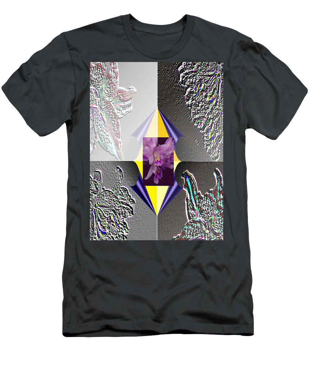 Florals Men's T-Shirt (Athletic Fit) featuring the digital art 4 Points Of Interest by Brenda L Spencer