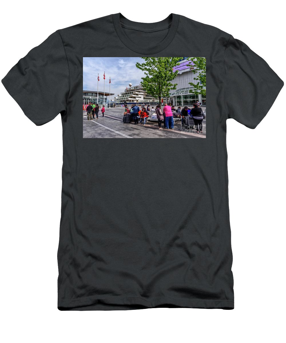 Vancouver Bc Canada Men's T-Shirt (Athletic Fit) featuring the photograph Vancouver Bc Canada by Viktor Birkus