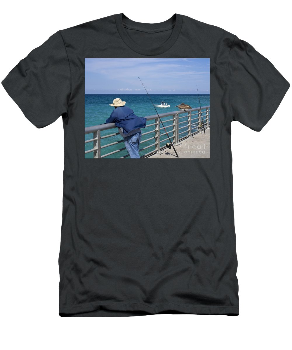 Florida Men's T-Shirt (Athletic Fit) featuring the photograph Sebastian Inlet State Park In Florida by Allan Hughes