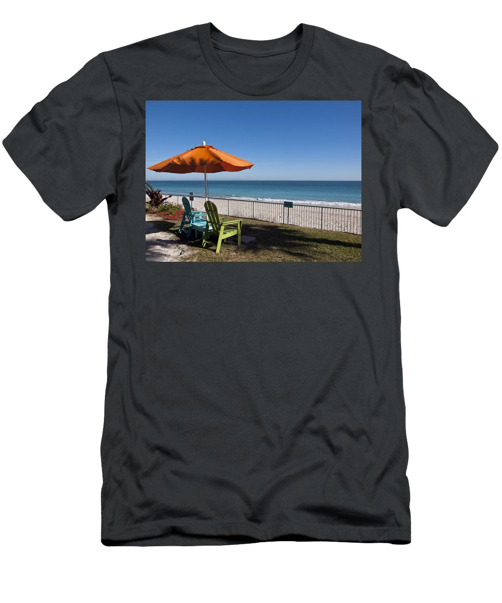 Florida Men's T-Shirt (Athletic Fit) featuring the photograph Beachland Boulevard At Vero Beach In Florida by Allan Hughes