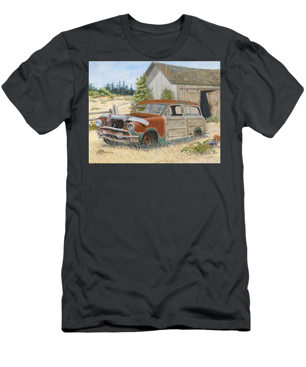 Abandoned Men's T-Shirt (Athletic Fit) featuring the painting '51 Country Squire by Scott Lang