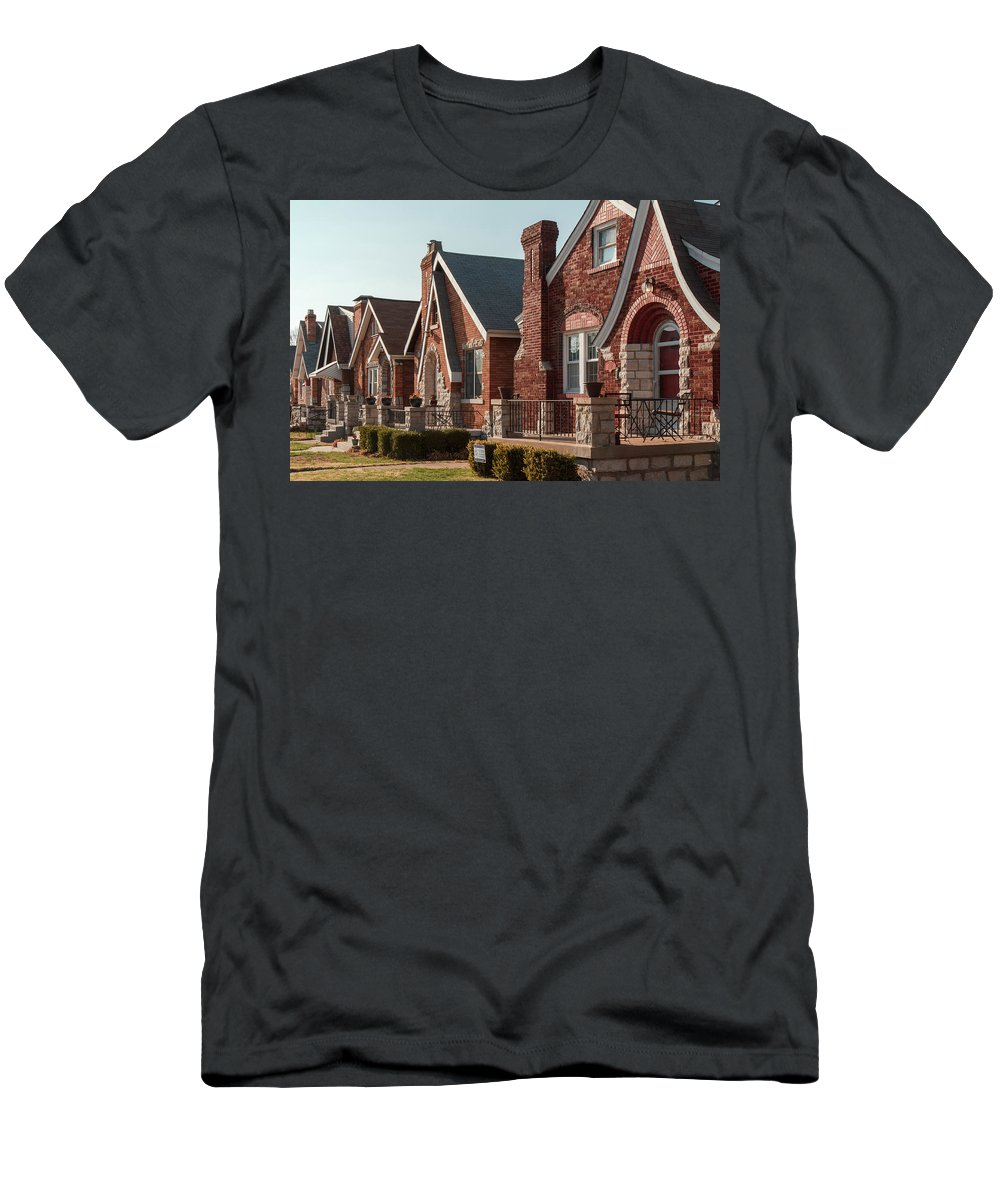 St. Louis Neighborhood Men's T-Shirt (Athletic Fit) featuring the photograph 5400 Walsh by Scott Rackers