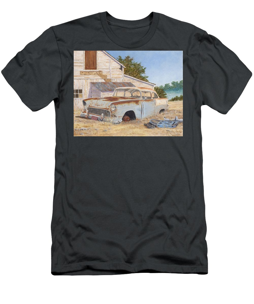 Abandoned Men's T-Shirt (Athletic Fit) featuring the painting '55 210 by Scott Lang