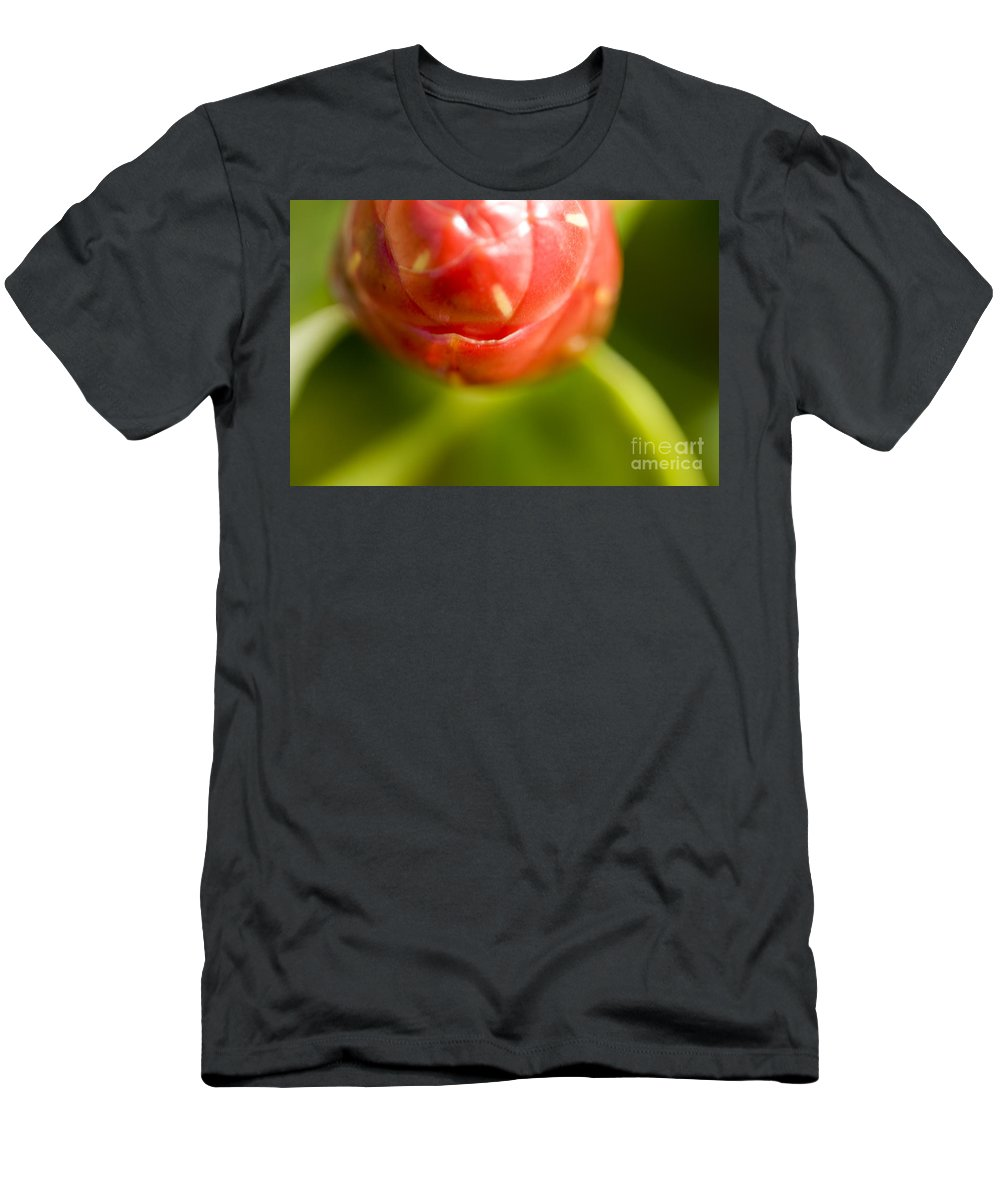 83-pfs0175 Men's T-Shirt (Athletic Fit) featuring the photograph Flower Abstract by Ray Laskowitz - Printscapes