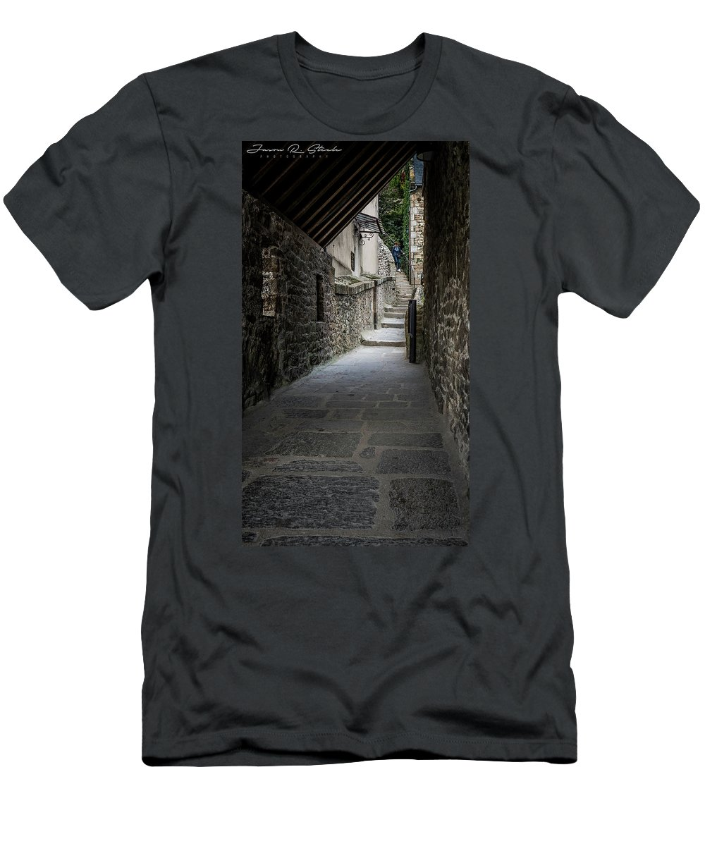 Water Men's T-Shirt (Athletic Fit) featuring the photograph Le Mont Saint Michel by Jason Steele