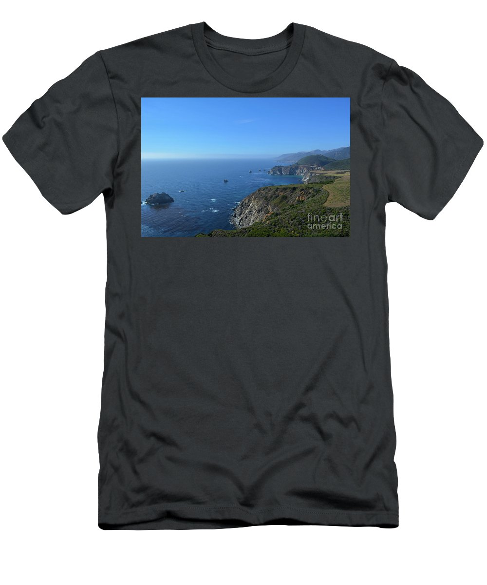 Big Sur Men's T-Shirt (Athletic Fit) featuring the photograph Big Sur by Brian Stauffer
