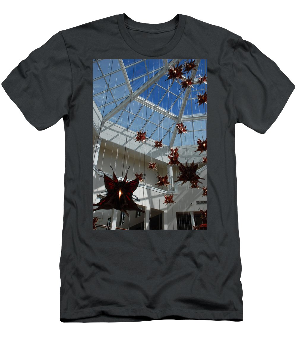 Architecture Men's T-Shirt (Athletic Fit) featuring the photograph Hanging Butterflies by Rob Hans