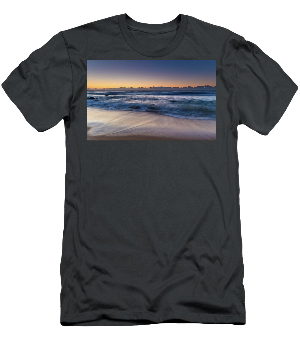 Australia Men's T-Shirt (Athletic Fit) featuring the photograph Sunrise By The Sea by Merrillie Redden