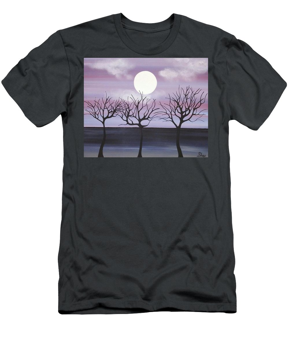 Men's T-Shirt (Athletic Fit) featuring the painting Tree Love by Dan Schepperly