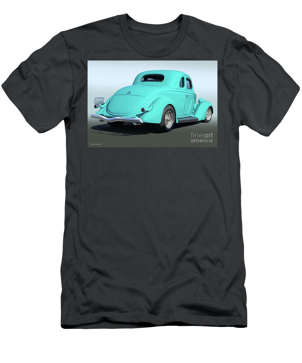 Auto Men's T-Shirt (Athletic Fit) featuring the photograph 1936 Ford Coupe by Dave Koontz