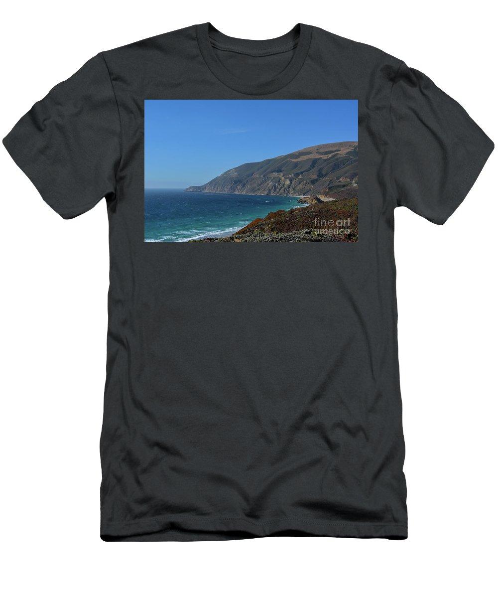Big Sur Men's T-Shirt (Athletic Fit) featuring the photograph Big Sur by Brian Stauffer