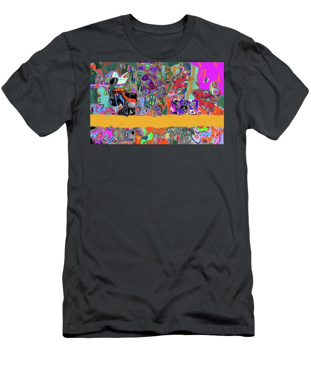 Walter Paul Bebirian Men's T-Shirt (Athletic Fit) featuring the digital art 9-11-3057b by Walter Paul Bebirian