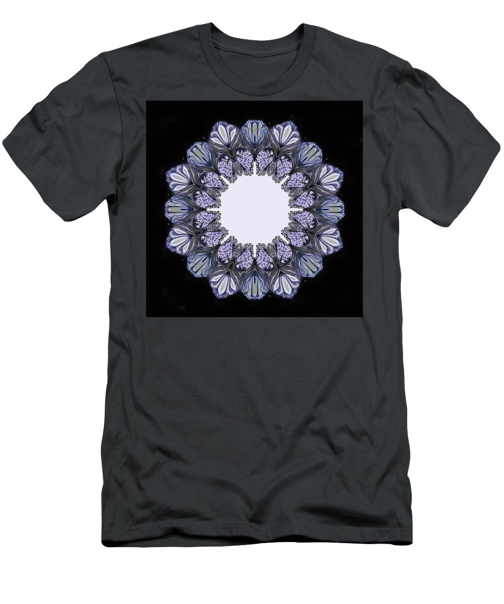 Crown Flower Men's T-Shirt (Athletic Fit) featuring the digital art Crown Flower by Sandrine Kespi