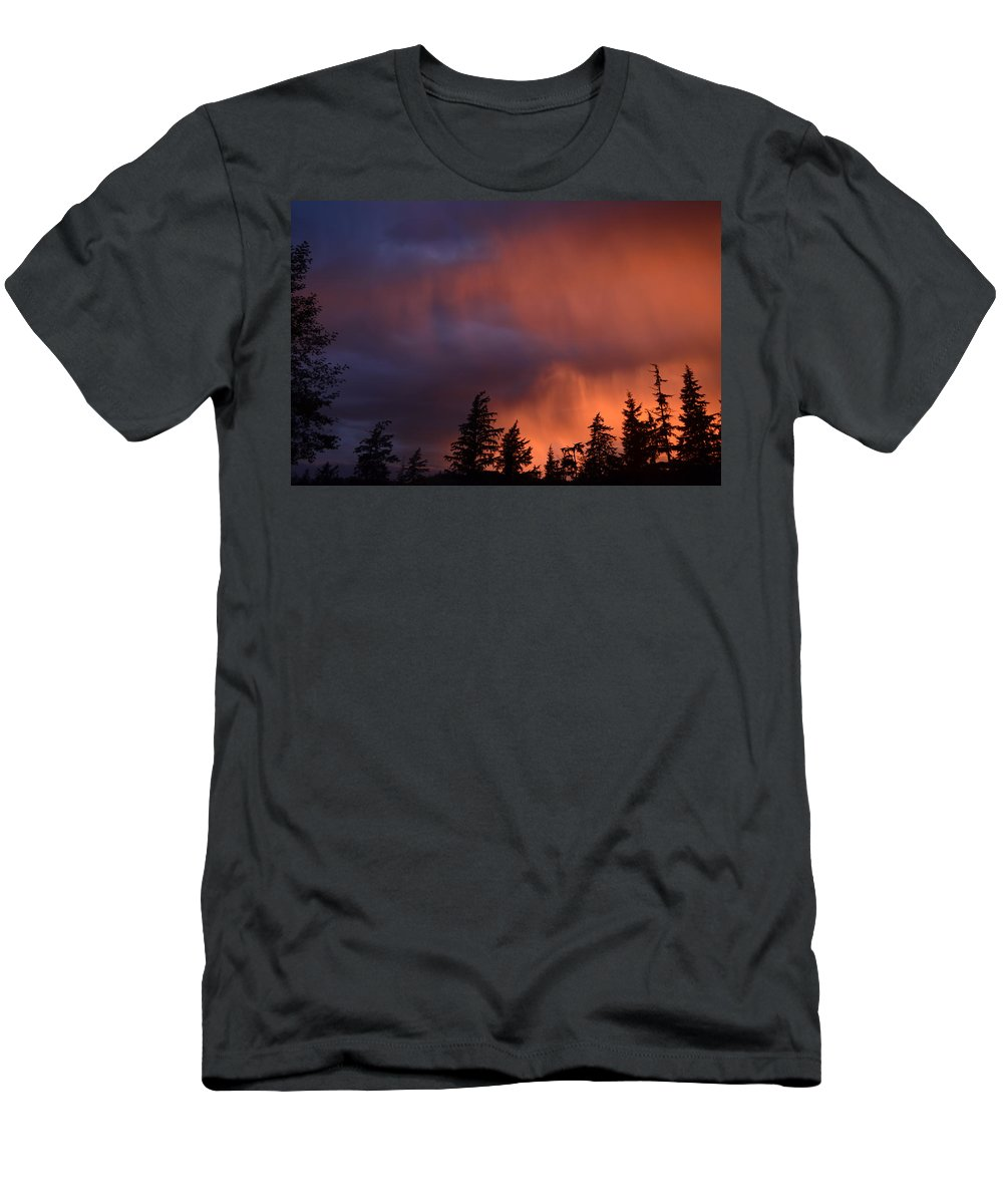 Sunset Men's T-Shirt (Athletic Fit) featuring the photograph Sunset by Larry Poulsen
