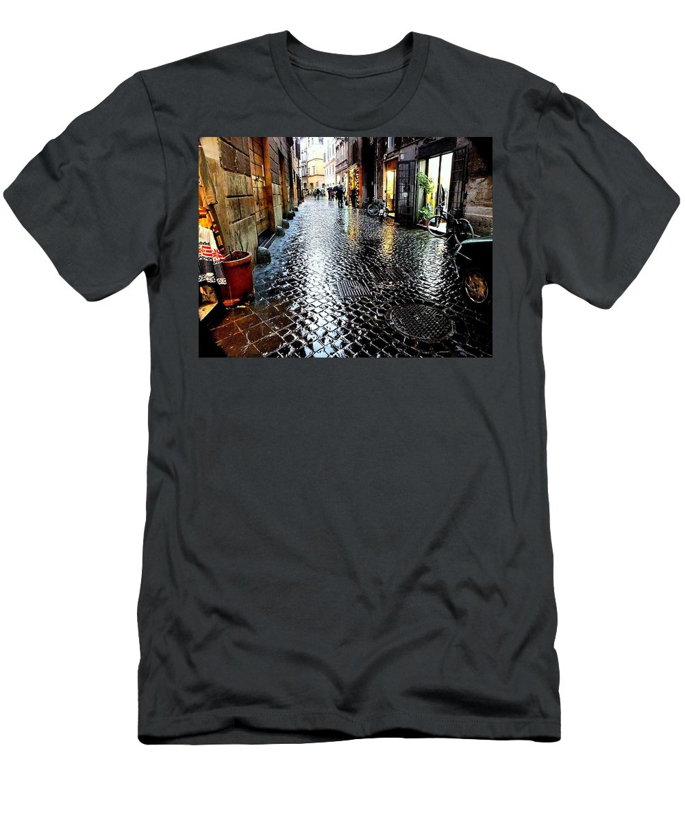 City Men's T-Shirt (Athletic Fit) featuring the photograph winter in Rome by Gianni Bussu