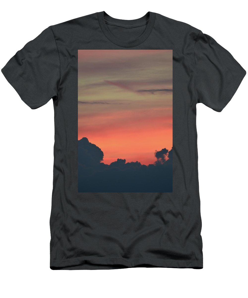 Clouds Men's T-Shirt (Athletic Fit) featuring the photograph 9.28.12 Pm July 6-2016 by Lyle Crump