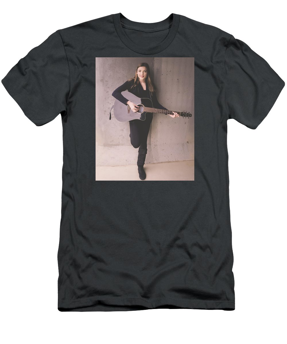 Musician Men's T-Shirt (Athletic Fit) featuring the photograph 9530 by Teresa Blanton