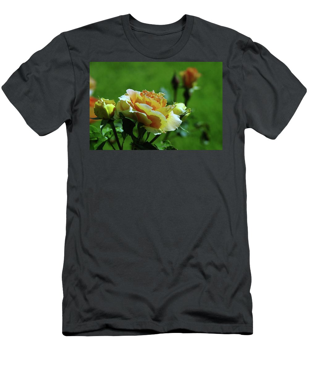 Roses Men's T-Shirt (Athletic Fit) featuring the photograph A Benton City Rose by Jeff Swan