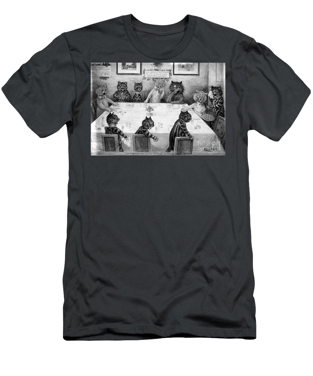 History Men's T-Shirt (Athletic Fit) featuring the photograph A Christmas Catastrophe, 1906 by Science Source