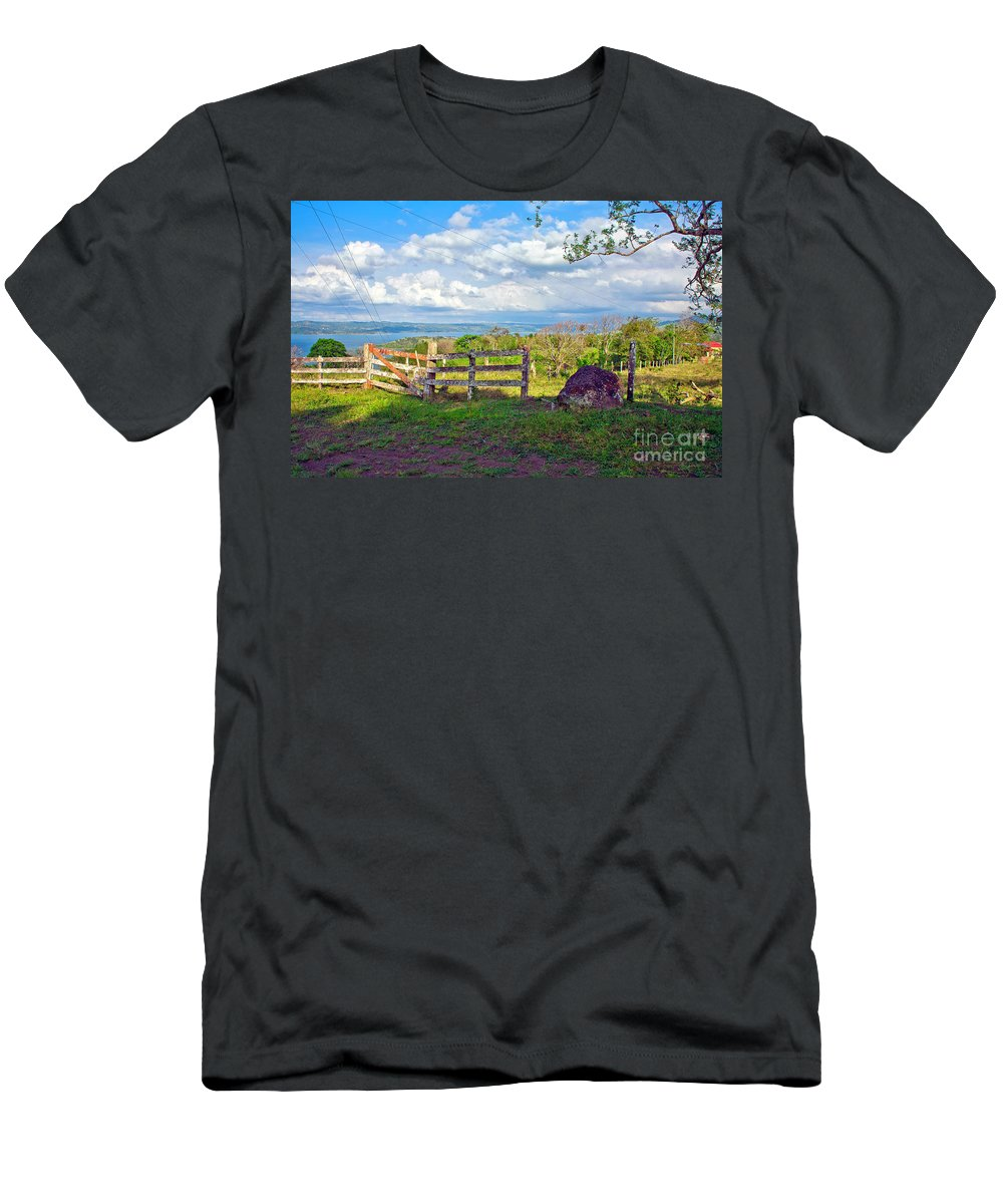 Landscape Men's T-Shirt (Athletic Fit) featuring the photograph A Costa Rica View by Madeline Ellis