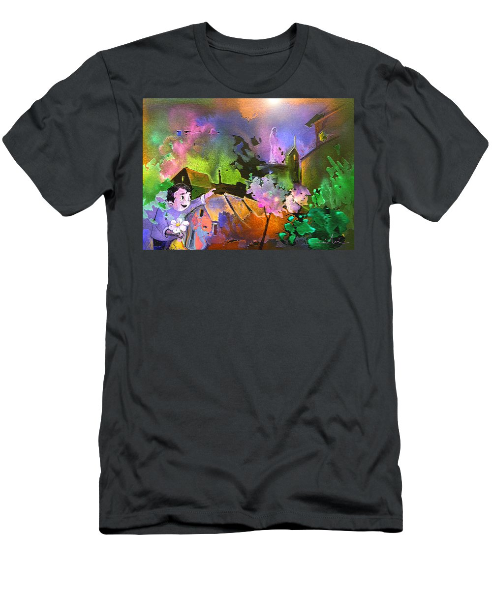 Dream Men's T-Shirt (Athletic Fit) featuring the painting A Daisy For Mary by Miki De Goodaboom