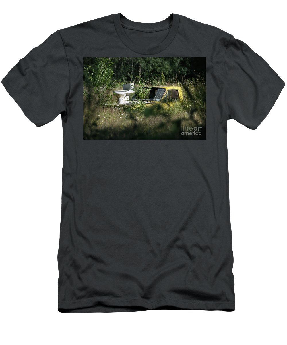 Dump Truck Men's T-Shirt (Athletic Fit) featuring the photograph A Different Dump Truck by James E Weaver