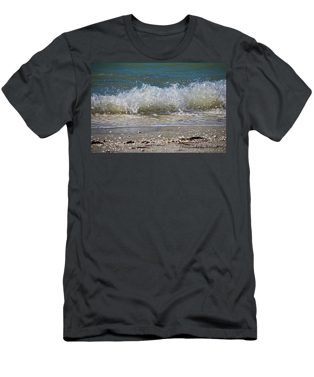 Sanibel Island Men's T-Shirt (Athletic Fit) featuring the photograph A Feisty Venus by Michiale Schneider
