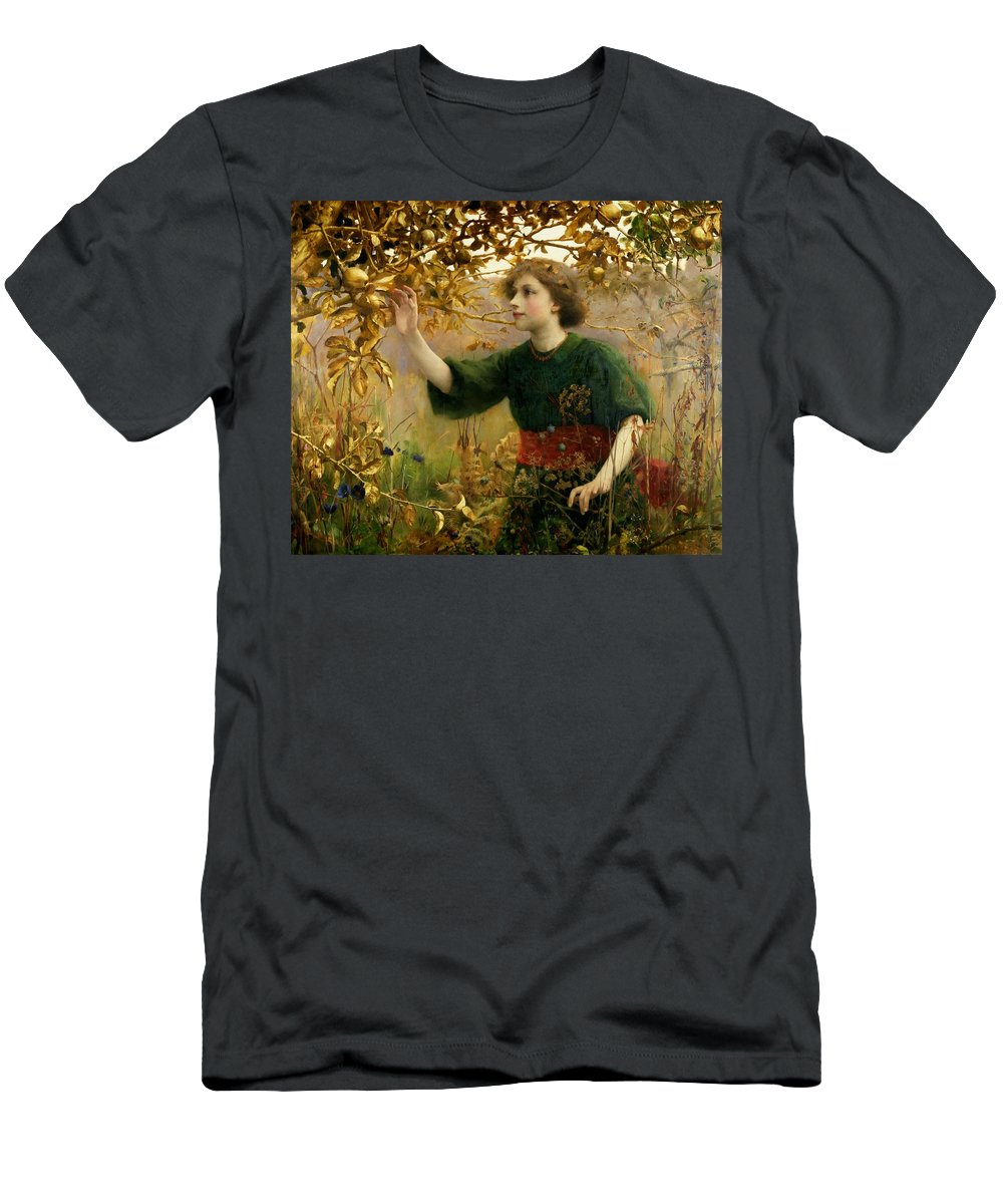 A Golden Dream Men's T-Shirt (Athletic Fit) featuring the painting A Golden Dream by Thomas Cooper Gotch