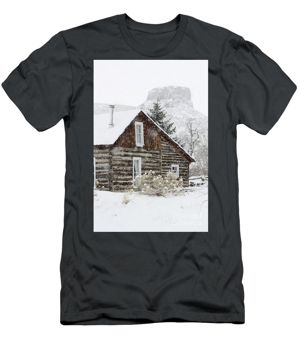 Winter Men's T-Shirt (Athletic Fit) featuring the photograph A Golden Winter by Andrew Terrill