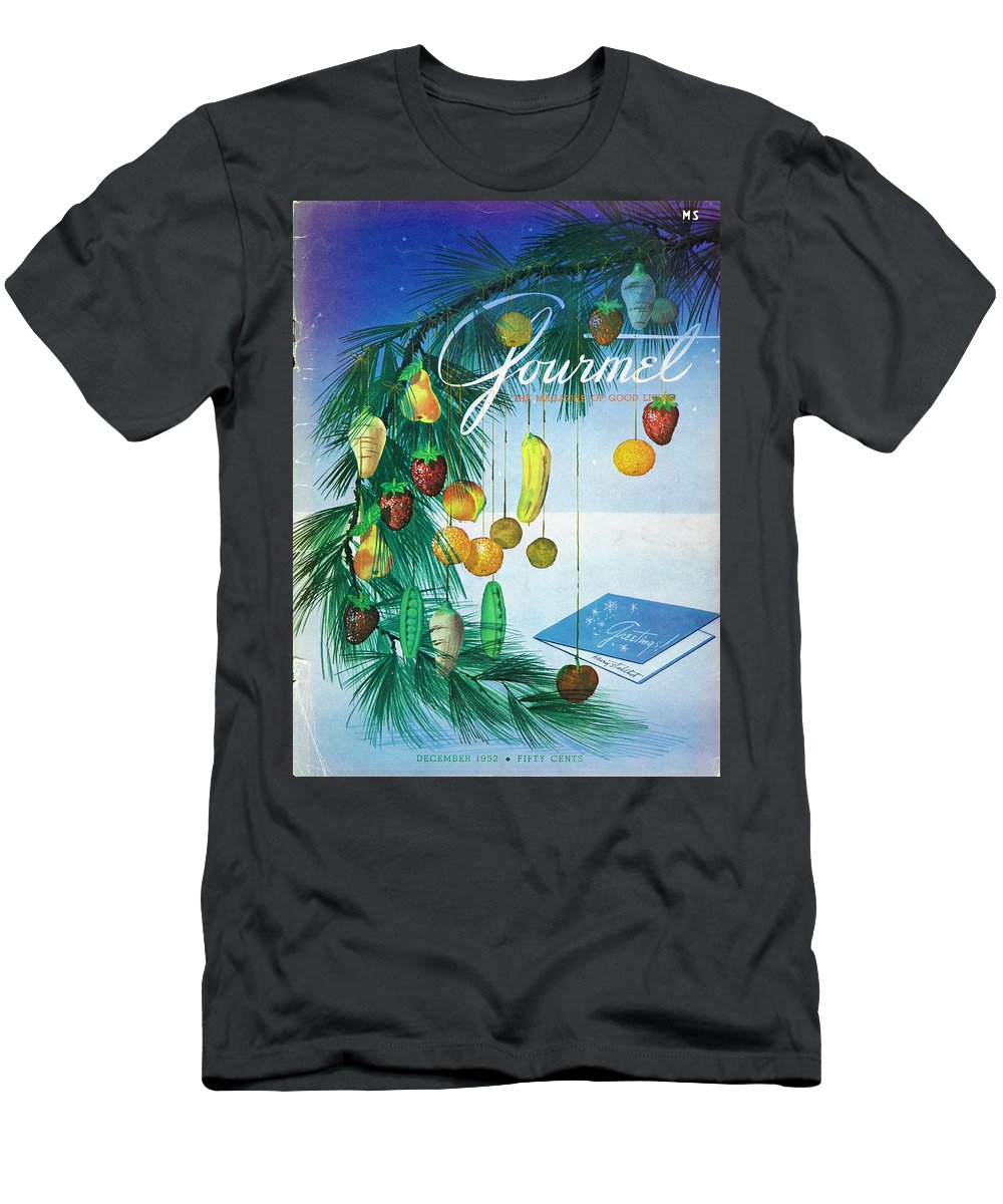 Food Men's T-Shirt (Athletic Fit) featuring the photograph A Gourmet Cover Of Marzipan Fruit by Henry Stahlhut