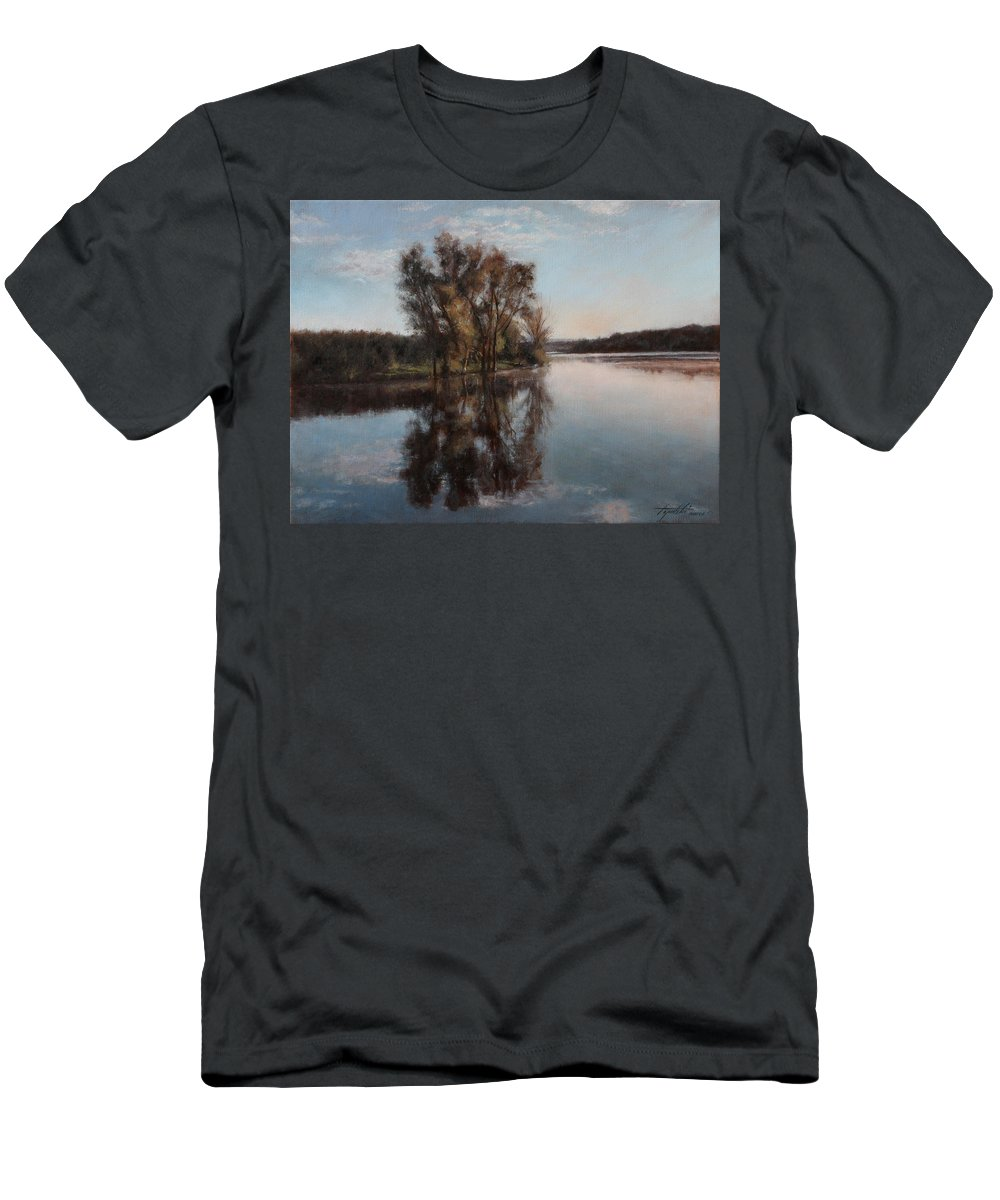 Realism T-Shirt featuring the painting A Lake by Darko Topalski