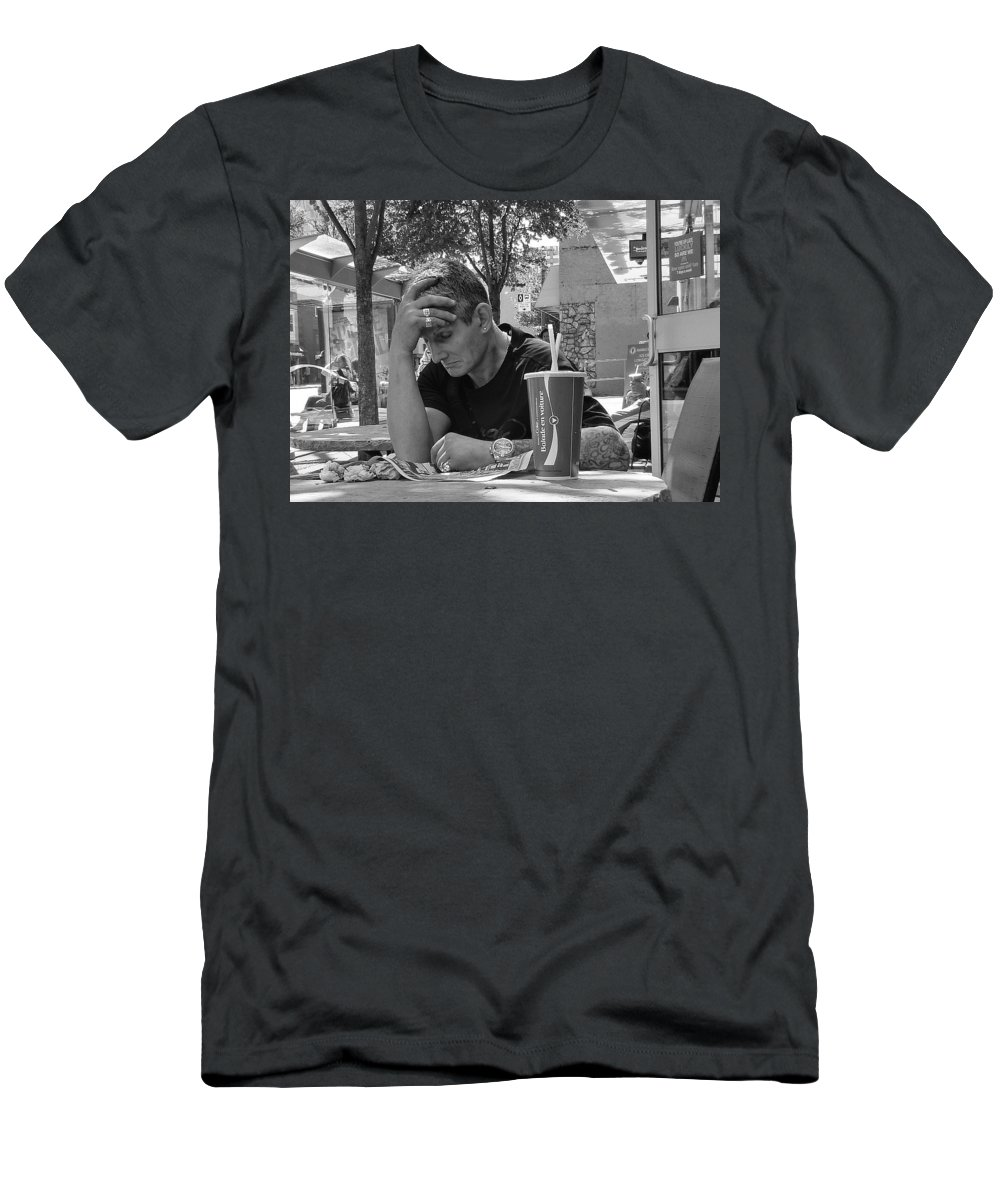Man Men's T-Shirt (Athletic Fit) featuring the photograph A Moment's Rest by Stuart Matthews