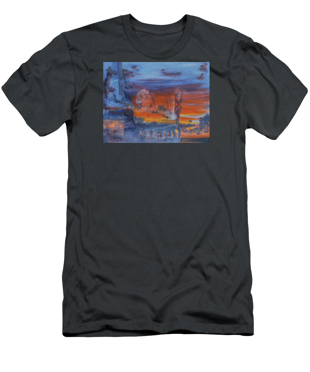 Abstract Men's T-Shirt (Athletic Fit) featuring the painting A Mystery Of Gods by Steve Karol