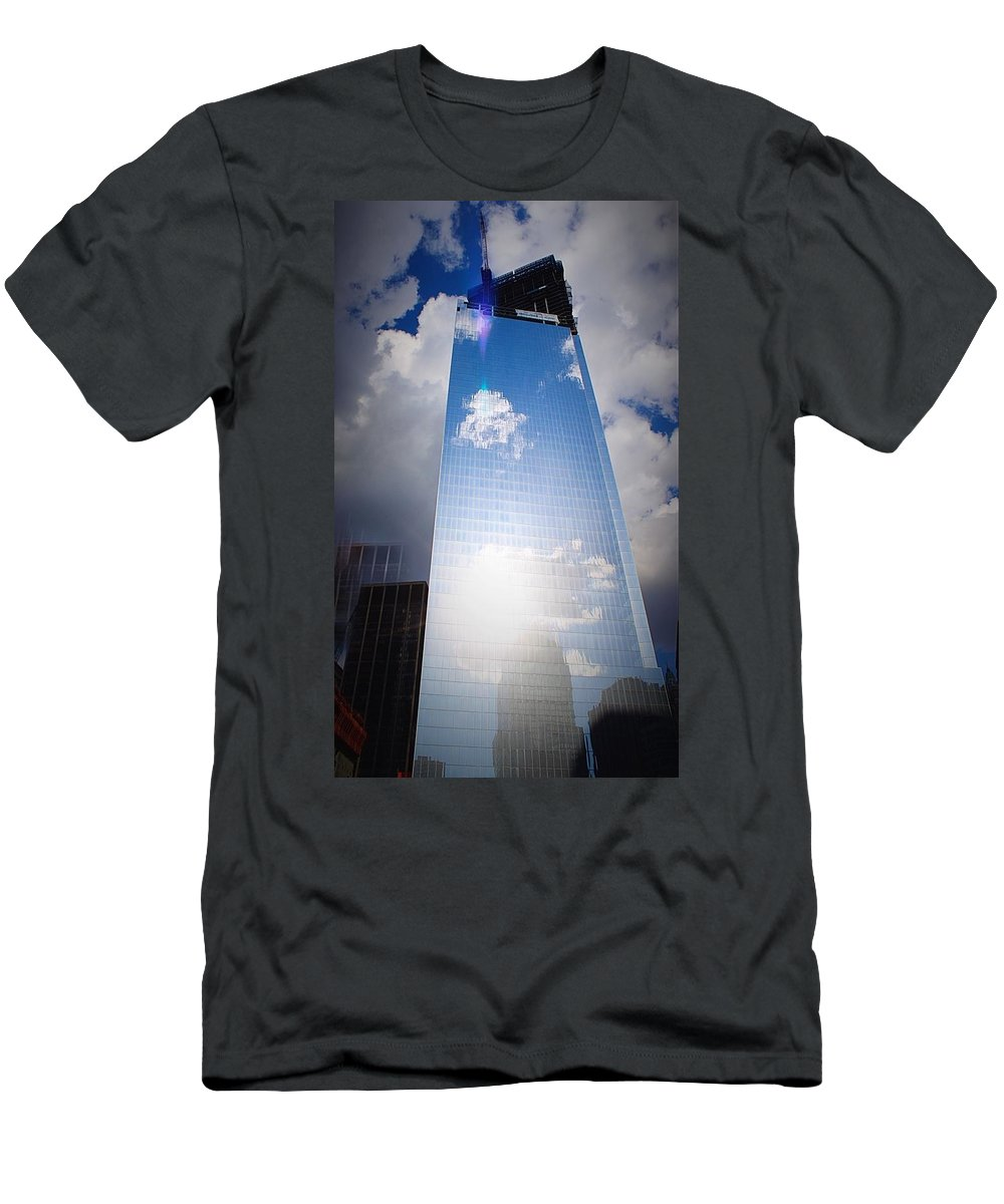 Architecture Men's T-Shirt (Athletic Fit) featuring the photograph A New Beginning by Teresa Self