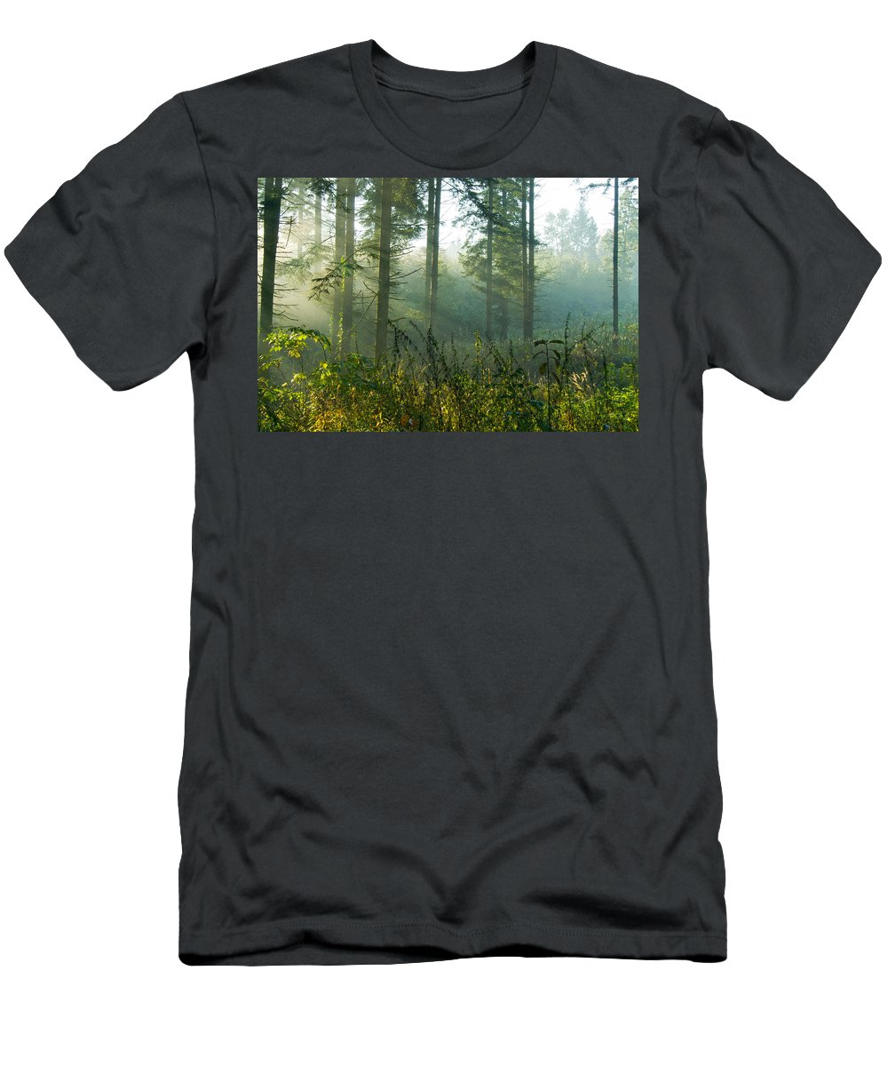 Nature Men's T-Shirt (Athletic Fit) featuring the photograph A New Day Has Come by Daniel Csoka