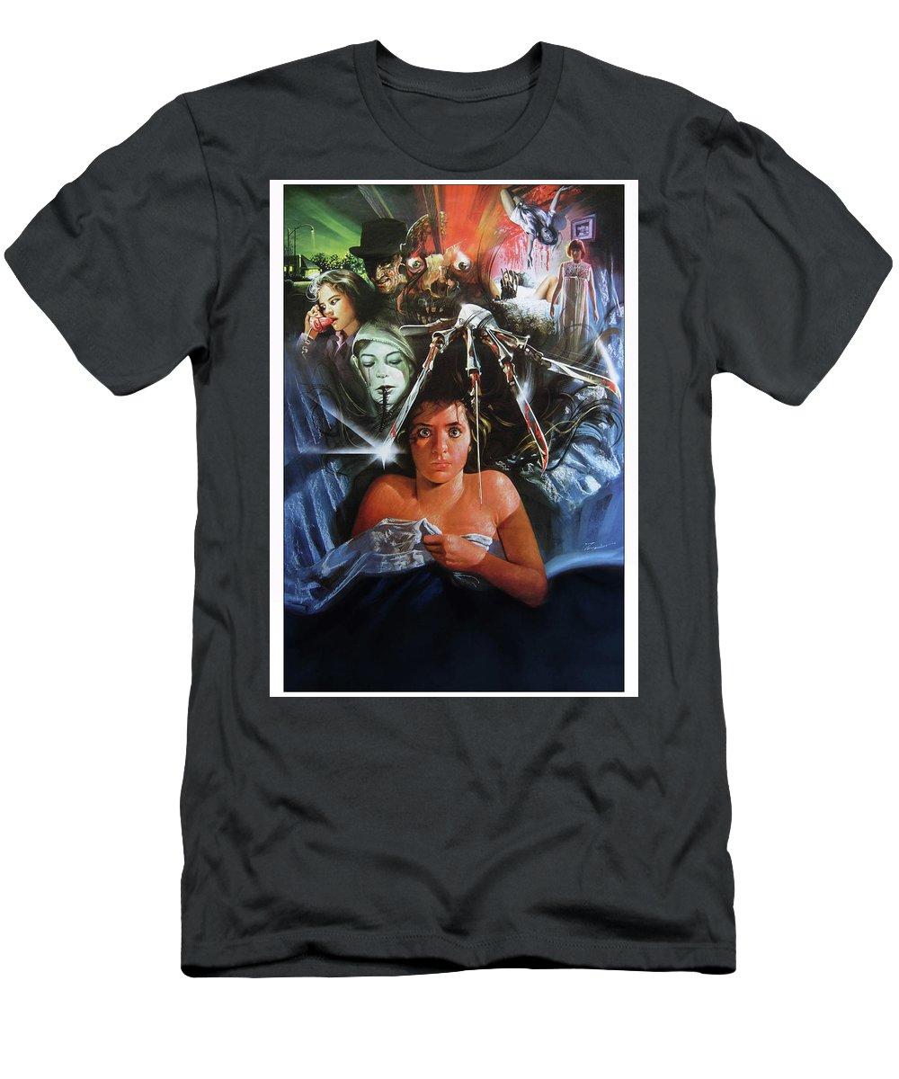 A Nightmare On Elm Street 1984 Men's T-Shirt (Athletic Fit) featuring the digital art A Nightmare On Elm Street 1984 by Geek N Rock