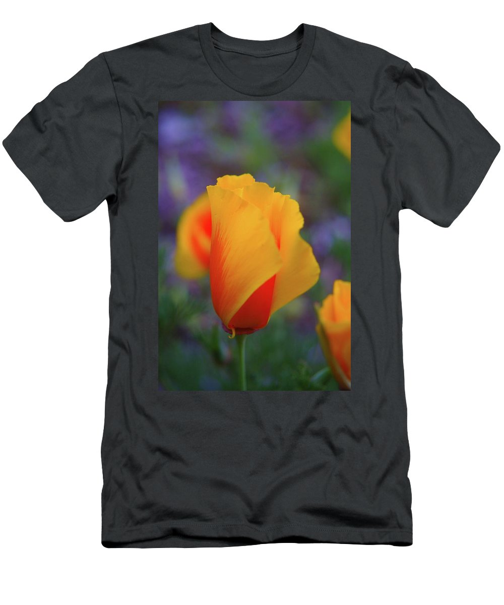 Poppies Men's T-Shirt (Athletic Fit) featuring the photograph A Poppy Furled by Jeff Swan