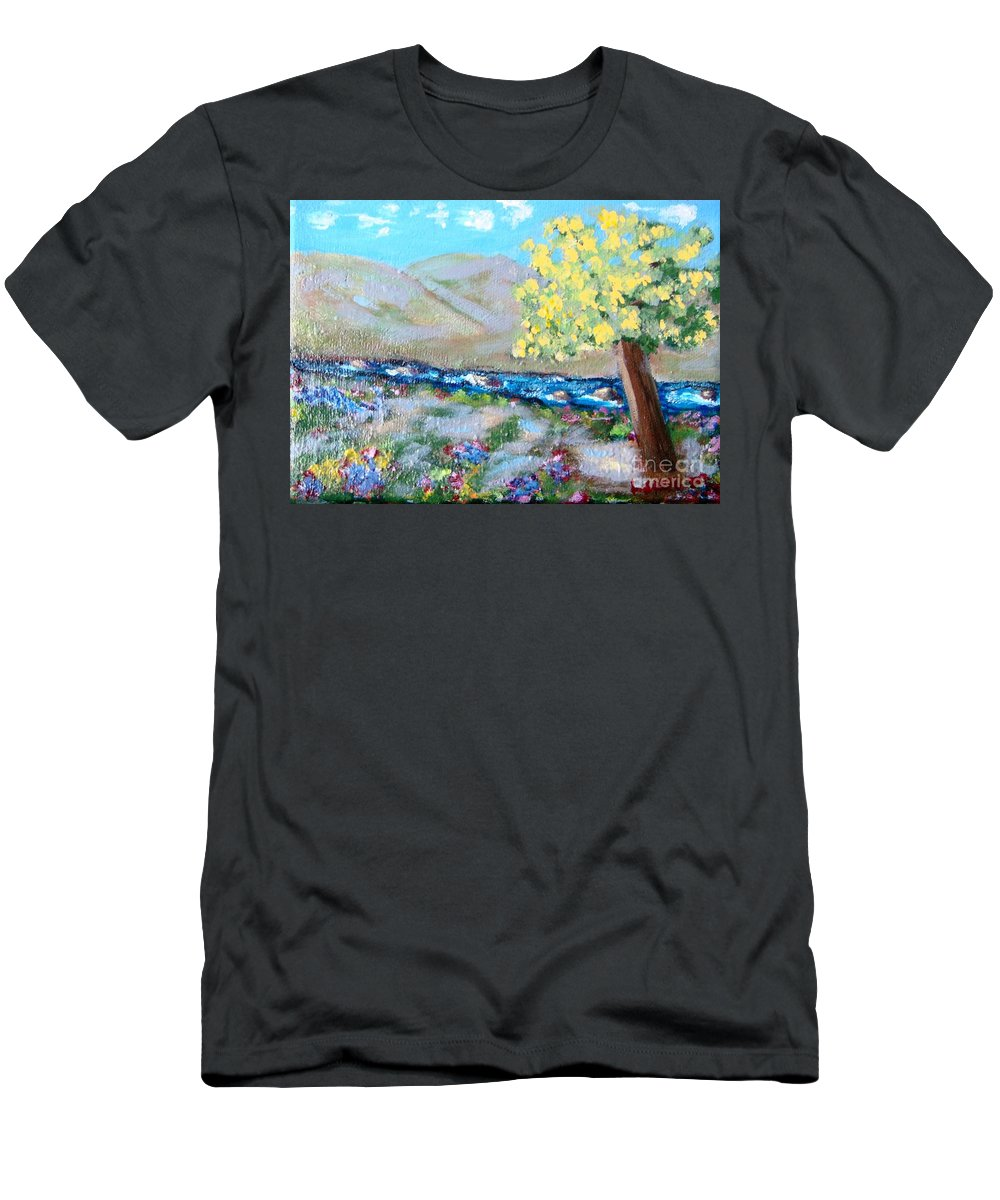 Landscapes T-Shirt featuring the painting A Quiet Place by Laurie Morgan