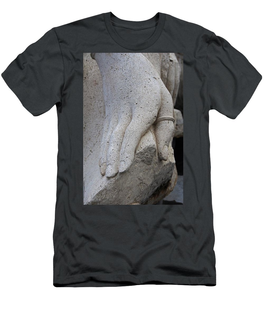 Hand Men's T-Shirt (Athletic Fit) featuring the photograph A Sacramento Hand by Michiale Schneider