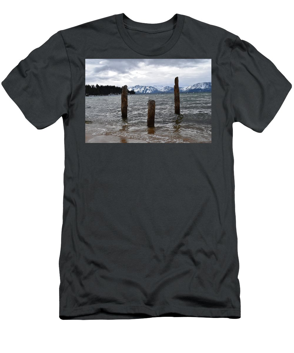 Lake Tahoe Men's T-Shirt (Athletic Fit) featuring the photograph A Set Of 3 by Christina McNee-Geiger