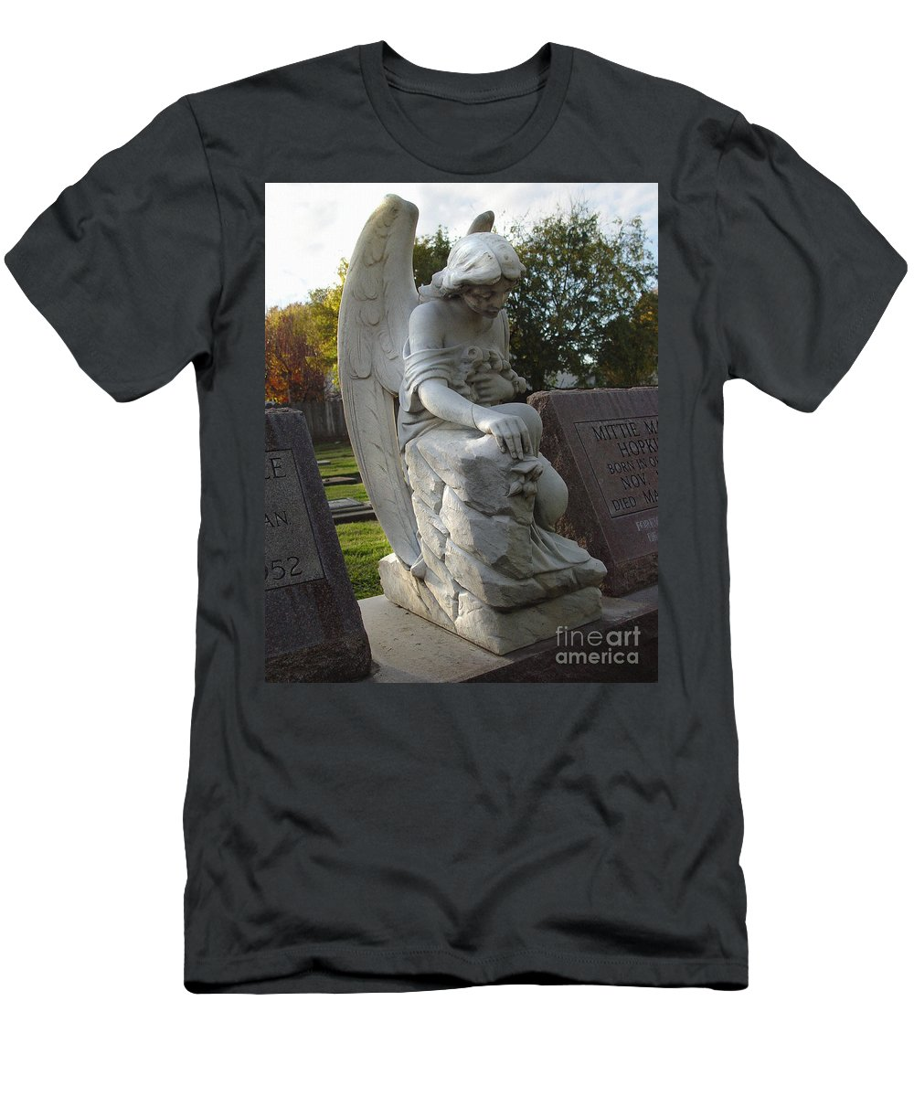 A Shadow Cast Over Thee Men's T-Shirt (Athletic Fit) featuring the photograph A Shadow Cast Over Thee by Peter Piatt