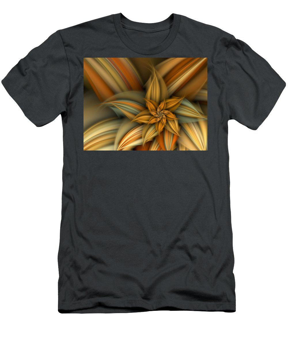 Fractal Men's T-Shirt (Athletic Fit) featuring the digital art A Sign Of Summer by Amorina Ashton