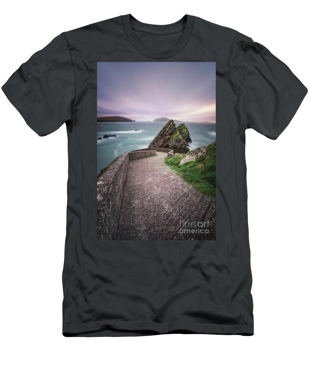 Kremsdorf Men's T-Shirt (Athletic Fit) featuring the photograph A Song For Ireland by Evelina Kremsdorf