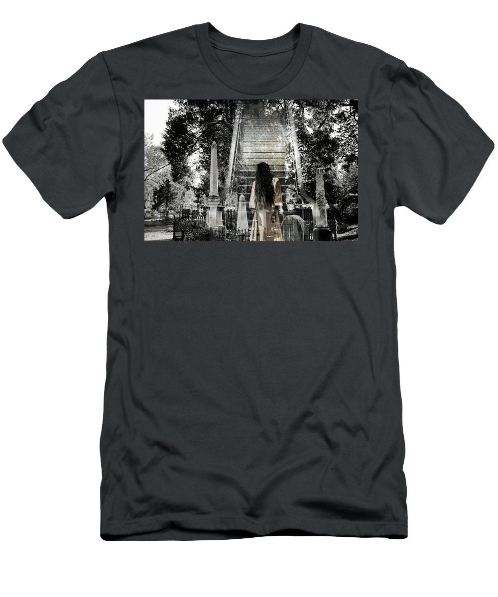 Stairway To Heaven Men's T-Shirt (Athletic Fit) featuring the photograph A Stairway To Heaven by James DeFazio