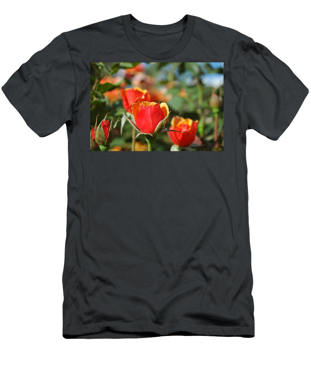 Red Men's T-Shirt (Athletic Fit) featuring the photograph A Surprise Inside by Teresa Stallings