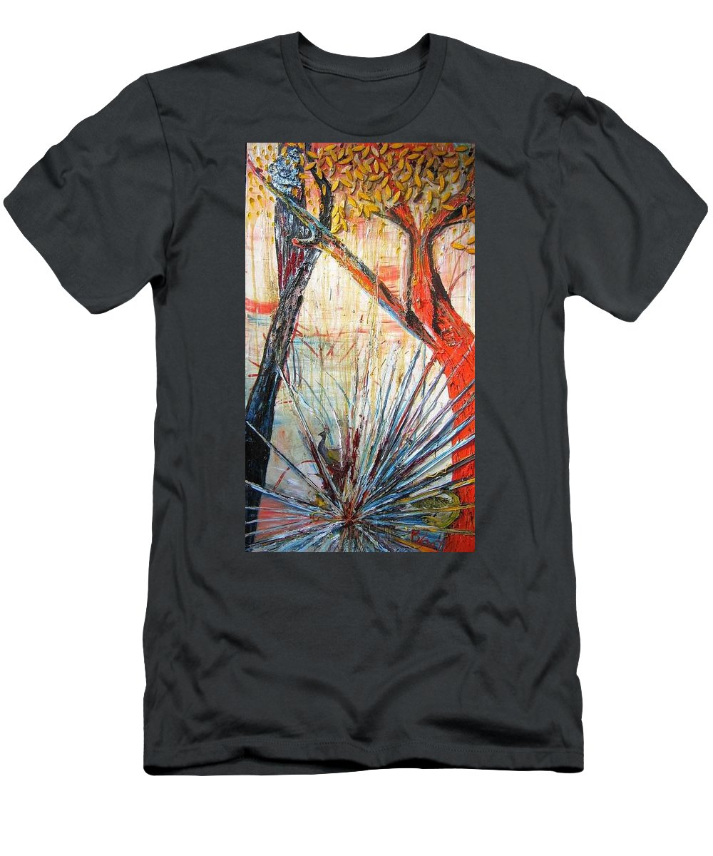 Trees T-Shirt featuring the painting A Tribute by Peggy Blood