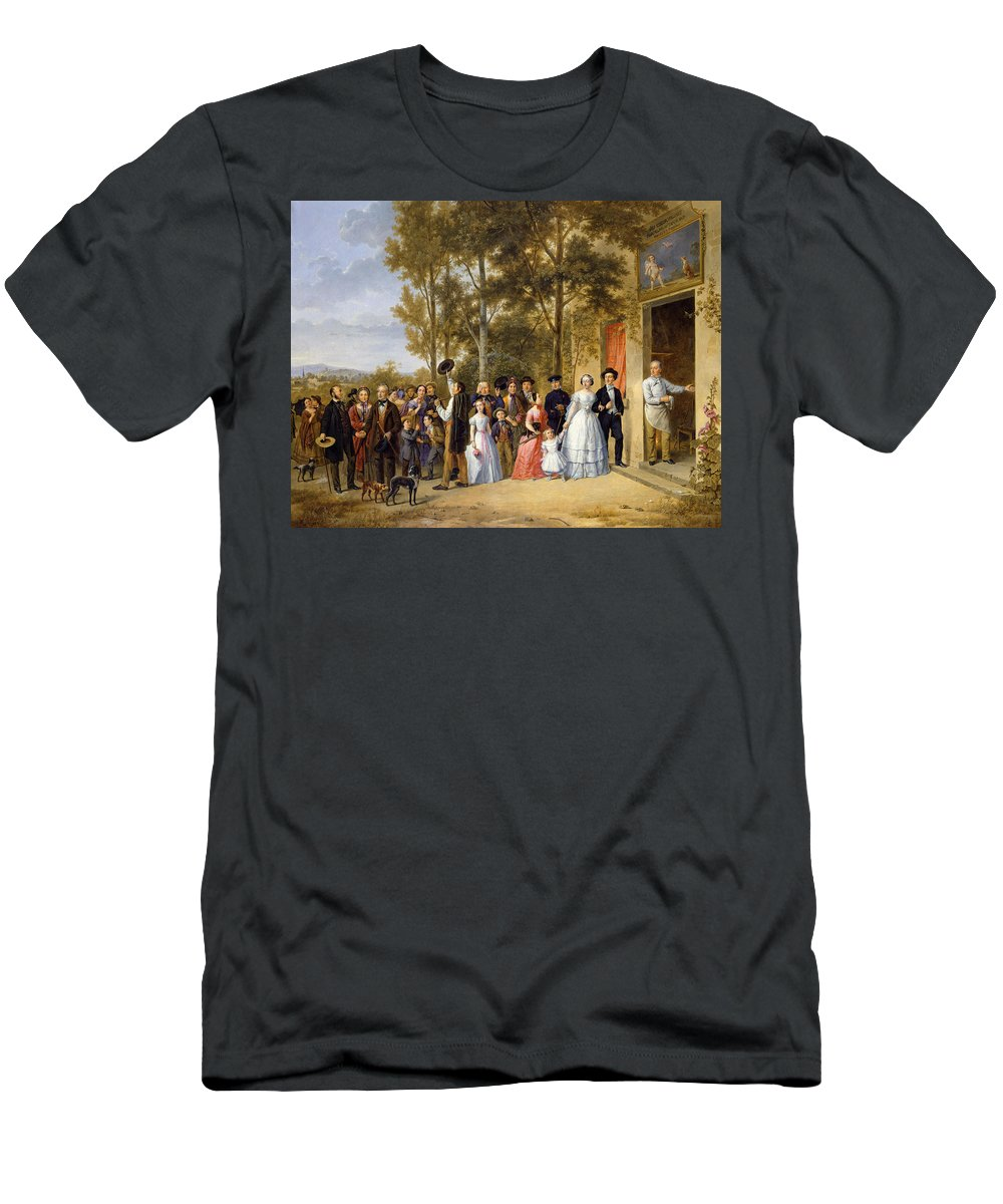Love Men's T-Shirt (Athletic Fit) featuring the painting A Wedding At The Coeur Volant by French School